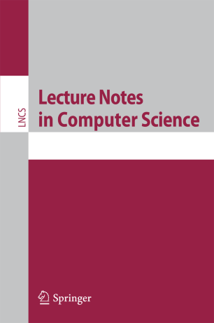 Springer Lecture Notes in Computer Science (LNCS) Template cover page